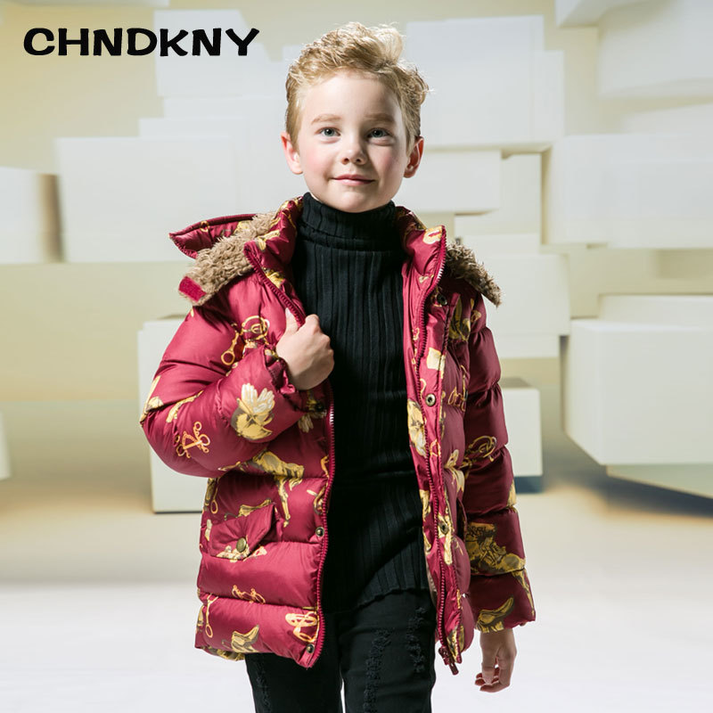 Boys Winter Jacket Padded-Coat Outerwear Hooded Kids Children Warm Cotton Fashion