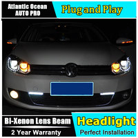 AUTO PRO 2009 2013 For Vw Golf 6 Xenon Headlights Car Styling Bi Xenon Lens 15