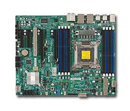 OEM X9SRA 2011 pin <font><b>C602</b></font> workstation motherboard 8 memory support E5-1600 / 2600V2 used 90%new image