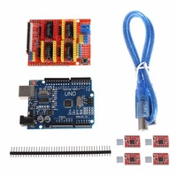 Expansion Board CNC Shield V3 3D Printer 4xA4988 Driver UNO R3 With USB Cable