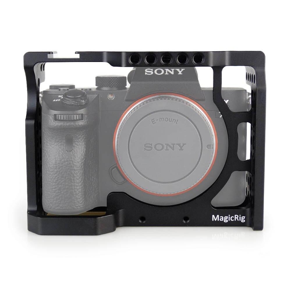 MAGICRIG cámara de aluminio con jaula estándar Zapata fría para Sony A7II/A7III/A7RII/A7RIII Cámara liberación rápida Kit de extensión