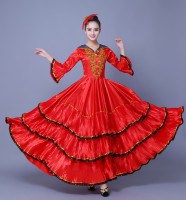 Spanish Dance Dress Span Dance Costume Flamenco Dance Costume Spanish Dance Dress Chorus Dress 540