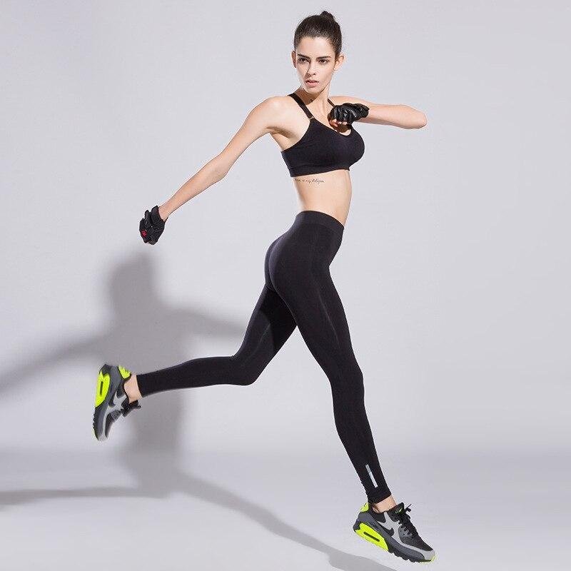 Υψηλή ελαστική Fitness Γυναικεία Pantalon - Αθλητικά είδη και αξεσουάρ - Φωτογραφία 4