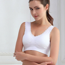 New Women Lady Chic Casual Solid Lace Fitness Bra Padded Bra Crop Tank Tops Stretch Vest