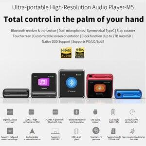 Image 2 - مشغل موسيقى MP3 عالي الدقة FiiO M5 عالي الدقة بتقنية البلوتوث عالي الدقة AK4377 USB DAC LDAC/AAC/aptX عالي الدقة 384kHz 32bit DSD128 محمول DAP