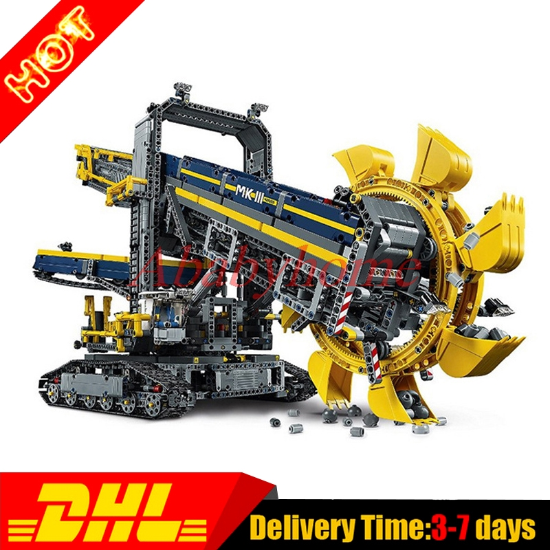 2016 New LEPIN 20015 3929Pcs Technic Bucket Wheel Excavator Model Building Kit Set Blocks Brick Compatible Toy Gift 42055