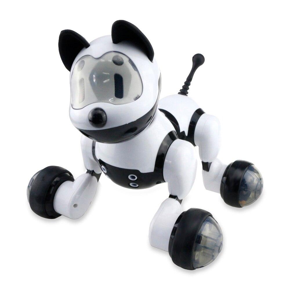 Inteligente baile perro Robot mascota electrónica juguetes con luz y música Control de voz modo libre cantar baile inteligente perro Robot