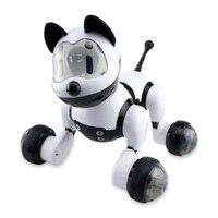 Smart Danza Robot Cane Elettronico Pet Giocattoli Con Musica Modalità di Controllo Vocale Della Luce di Trasporto Canta Danza Cane Intelligente Robot|Animali elettronici|Giocattoli e hobby -