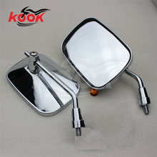big size motorbike mirror chrome motorcycle rearview mirror wide view motocross side mirror ATV Off-road moto dirt pit bike part