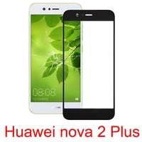 H New for 10 PCS Huawei nova 2 Plus Front Screen Outer Glass Lens repair