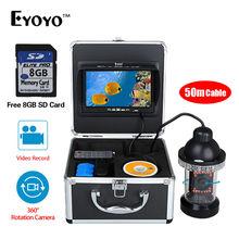 EYOYO 360 Degree Underwater Rotating Fishing Camera Kit Video Recording Function 7″ TFT Color Fish Finder Recorder 8G Card Free