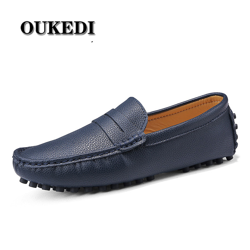 2019 New Mens Loafers Leather Soft Moccasins Fashion Men Casual Shoes Light Comfortable Driving Shoes Plus Size 48 49 50(China)
