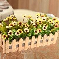 Wazon/6 historia drewniane palisady głowy kwiat kwiat jedwabiu zestaw dekoracji ślubnych kwiatów hurtownia kwiatów Wyposażenia Domu fałszywe