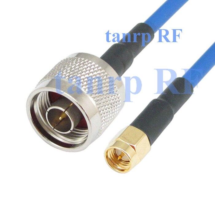 20 дюймов N штекер SMA штекер разъем адаптера РФ 50 см коаксиальный Гибкая синий куртка джемпер расширение кабель RG402