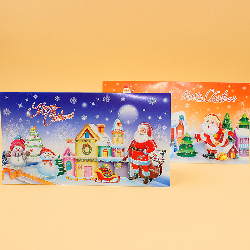 Aliexpress buy 16 pieceslotleiso brand merry christmas aliexpress buy 16 pieceslotleiso brand merry christmas cartoon snow house greeting card message card new year gift cards free shipping from m4hsunfo