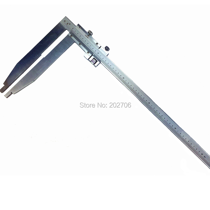 How To Use Vernier Caliper >> 0 500mm x 250mm long jaw Heavy Duty Vernier Caliper with nib jaw High quality measuring tools-in ...