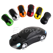 Computer Accessories 2.4GHz 3D Optical Wireless Mouse Mice Car Shape Receiver USB For PC L