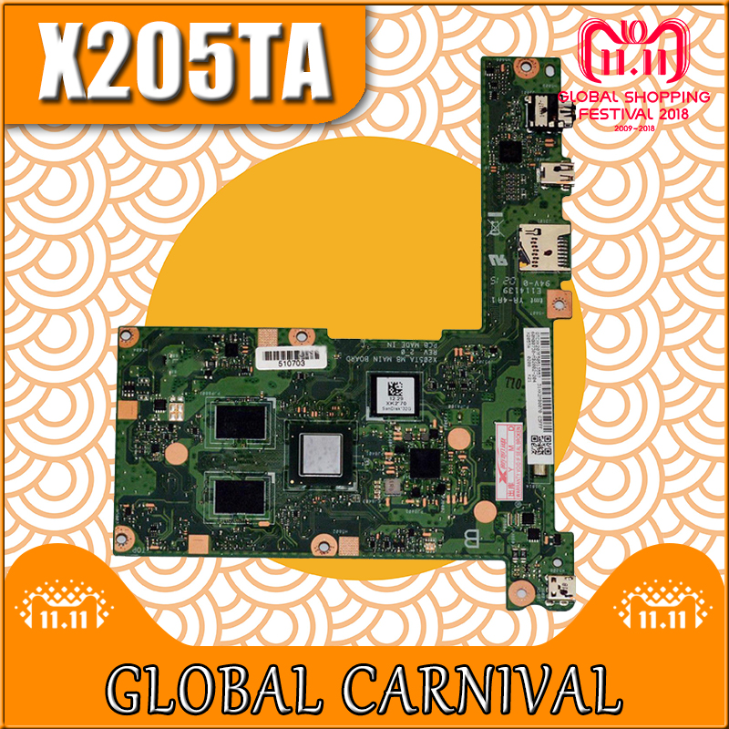 купить X205TA motherboard 32G For ASUS X205TA laptop motherboard X205TA mainboard X205TA motherboard test 100% ok