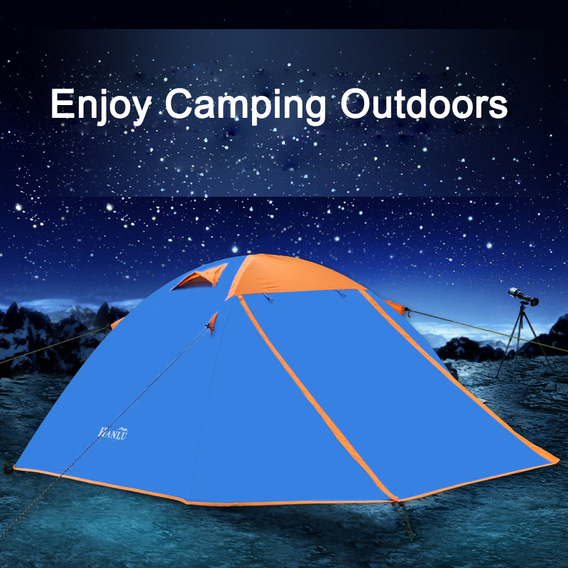 Camping Sleeping Tent 2 Person Backpacking Double Tent Waterproof Lightweight Outdoor Shelter for Hiking Travel with Carry Bag цена
