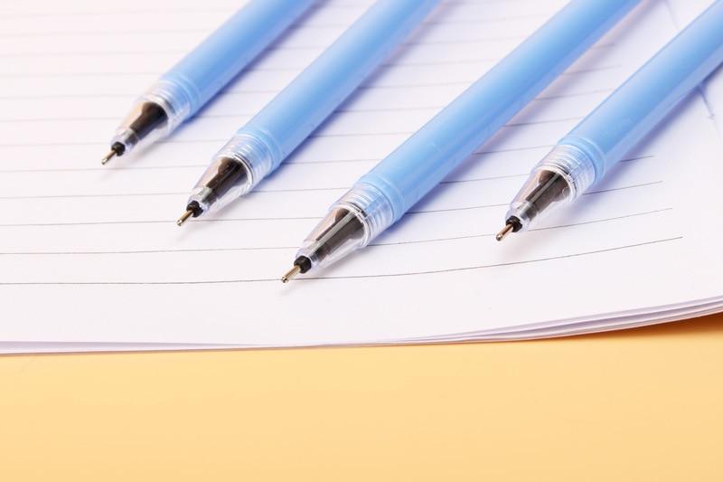 36 pcs/lot Stitch Gel Pen Cute 0.5 mm Black Ink Signature pen office School writing Supplies Stationery gift