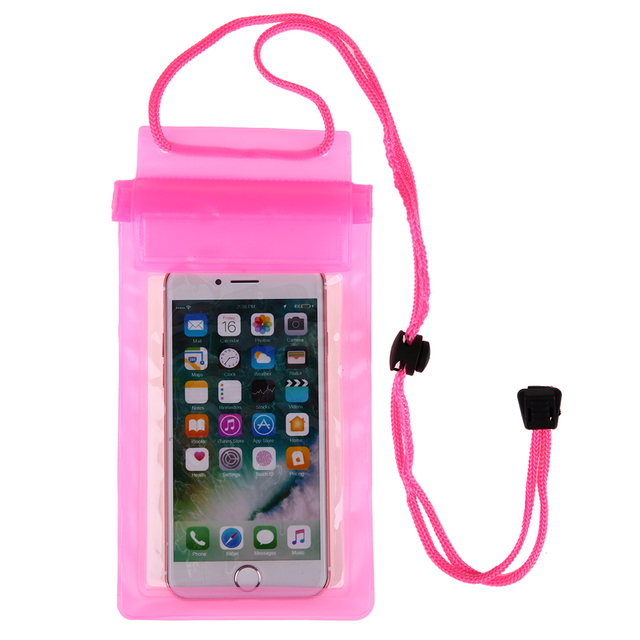 Strong 3 Layer Transparent Waterproof Underwater Pouch Dry Bag Case Cover For iPhone 7 Samsung HTC Huawei under 5.5inch Phone