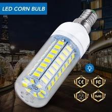 E27 светодиодная лампа-кукуруза E14 лампа-свеча 220 В Светодиодная лампа для дома 3 Вт 5 Вт 7 Вт 9 Вт 12 Вт 15 Вт 18 Вт 20 Вт 25 Вт Bombillas B22 SMD5730 230 В Светодиодная лампа