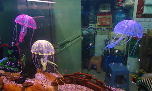 Glowing Effect Sứa Vivid cho Aquarium Fish Tank Hồ Bơi Trang Trí Trang Trí