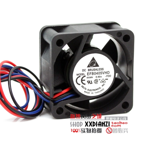 EFB0405VHD 4020 5 V 0.50A 4 cm grande volume de ar do inversor servidor ventilador do chassi