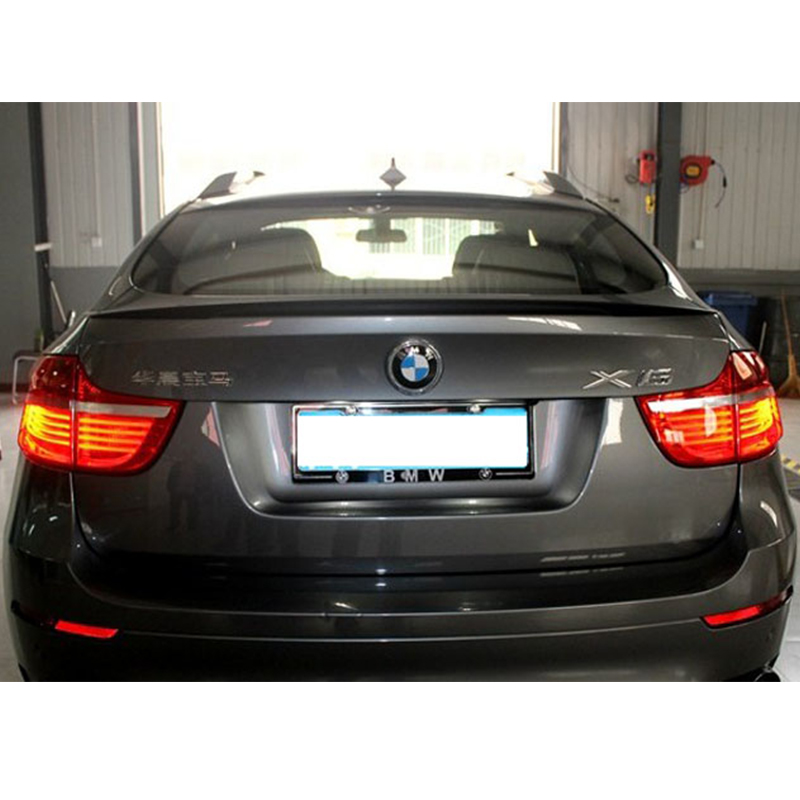 X6 E71 Modified Perform Style Carbon Fiber Rear Luggage Compartment Spoiler Car Wing For BMW E71 X6 2008~2013 tt modified tts style carbon fiber rear trunk lip spoiler car wing for audi tt 2008 2009 2010 2012 2013 2014