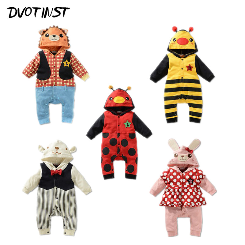 Baby Boy Girl Animals Bee Rompers Clothes Full Sleeves Outfit Playsuit Kids Infant Toddler Jumpsuit Clothing Halloween Costume 2017 cotton toddler kids girls clothes sleeveless floral romper baby girl rompers playsuit one pieces outfit kids tracksuit