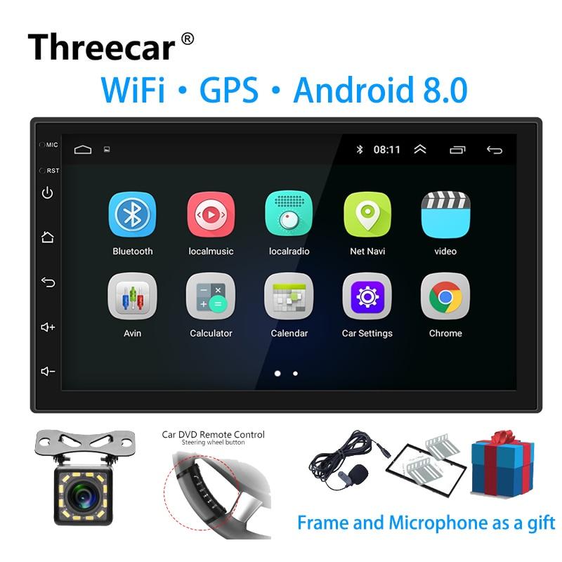 Android 8.0 7 2 Din Universal Car Radio Touchscreen GPS Multimedia Player Double Din autoradio 2 din For TOYOTA Nissan Kia 2 din