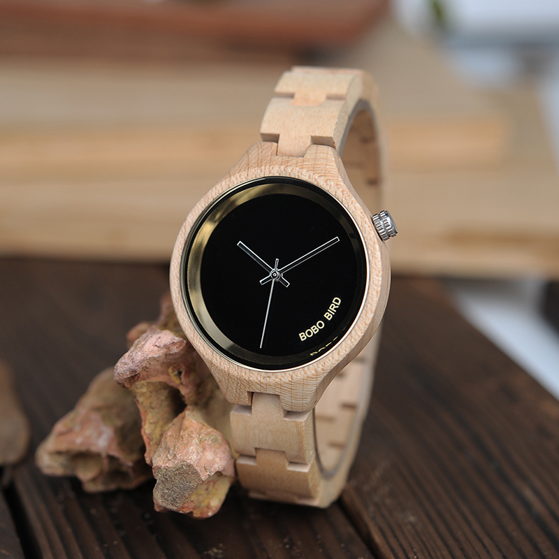 2 Colors BOBO BIRD New Wood Ladies Gifts Watches Luxury Special  Handmade Wooden Wrist Watch for Women relogio feminino C-P16 bobo bird new luxury wooden watches men and women leather quartz wood wrist watch relogio masculino timepiece best gifts c p30