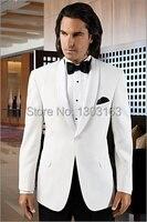Men Suits Custom Made Cheap New Style White Groom Tuxedos Lapel Groomsmen Men For Dress Wedding