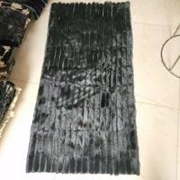 180*220 см из черной норки ткань/натуральным мехом шкура
