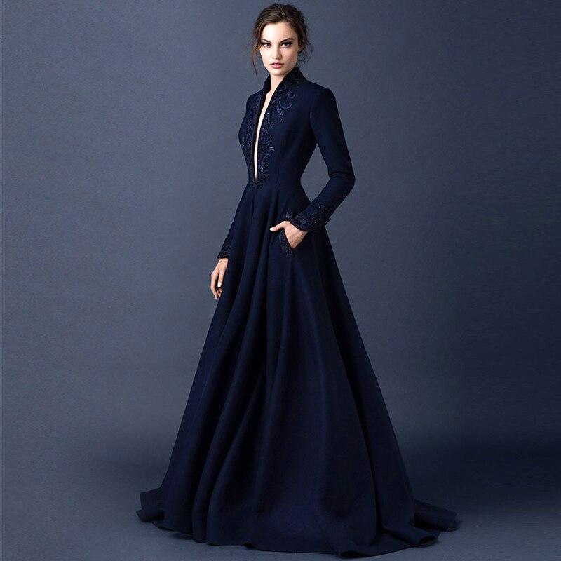 Arabic Evening Dress Gothic Style Luxury Beaded Formal Dresses 2016