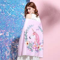 Mattys Dream Unicorn girl heart original design beach towel bamboo fiber home daily bath towel