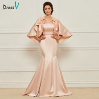 Dressv nube elegant mother of bride dress with jacket strapless applqiues zipper up long mother evening gown dresses custom