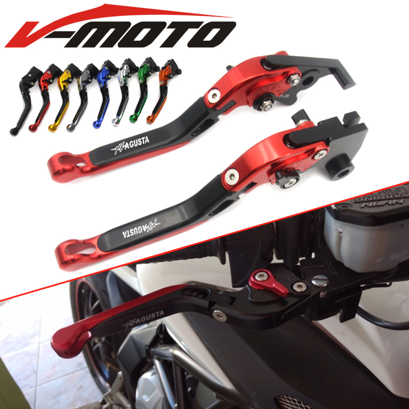For MV AGUSTA F3 675 F3 800/AGO/RC/ (not the AMG model) Motorcycle Accessories Adjustable Folding Extendable Brake Clutch Levers hot sale fits for mv agusta brutale 675 800 motorcycle accessories adjustable folding extendable brake clutch levers