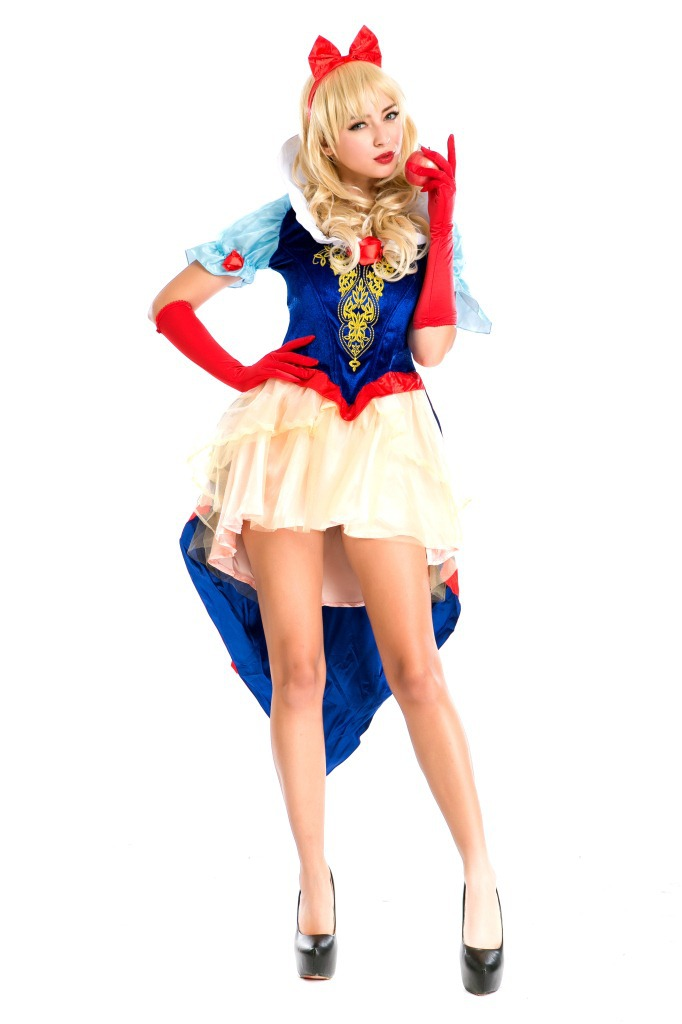 Sexy Adult Halloween Cosplay Dress Princess Costume Snow White Costumes For Women -1791