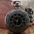 Vintage moda Unisex numero romana cuarzo reloj de bolsillo del Steampunk pocket watch