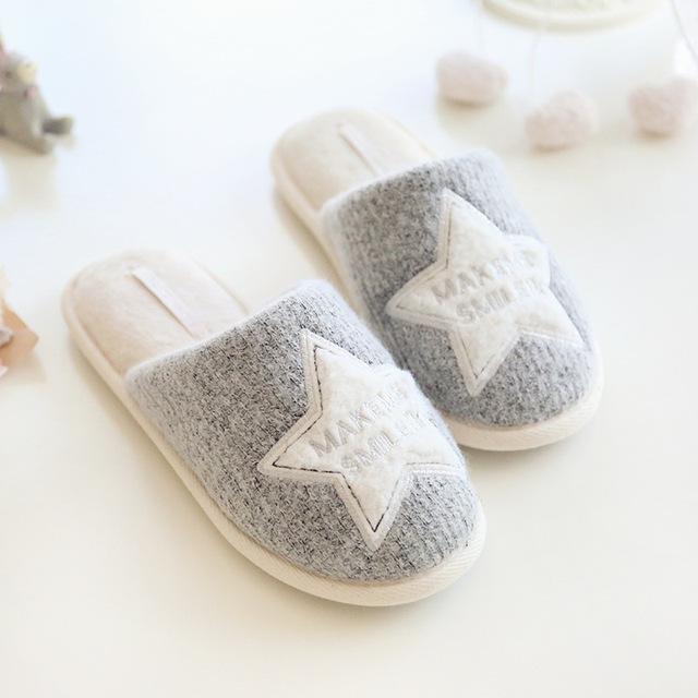 857841a9b349a Winter Shoes Woman Home Slippers Women For Indoor Bedroom House Soft Bottom  Cotton Warm Girls Female