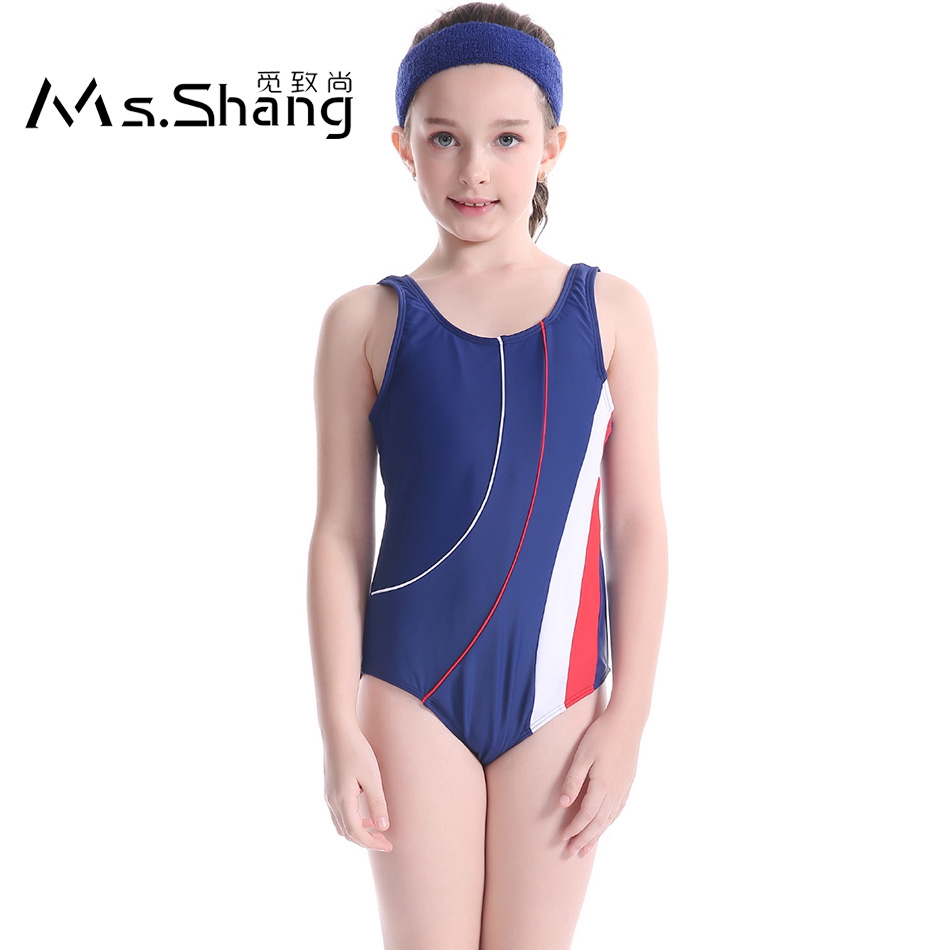 2017 Children Swimwear Girl One Piece Swimsuit Sport ...