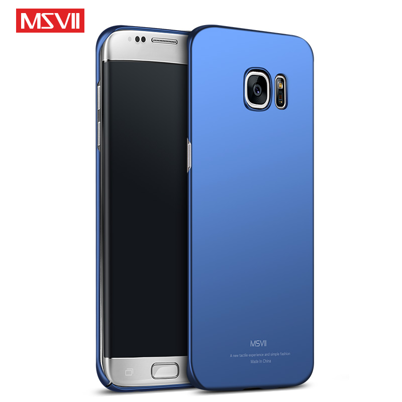 free shipping 84245 33a76 US $3.69 26% OFF|For Samsung Galaxy S7 Edge Case MSVII Luxury Slim Cases  For Samsung Galaxy S 7 Edge For Galaxy S7 Cover Hard Phone Case Housing-in  ...