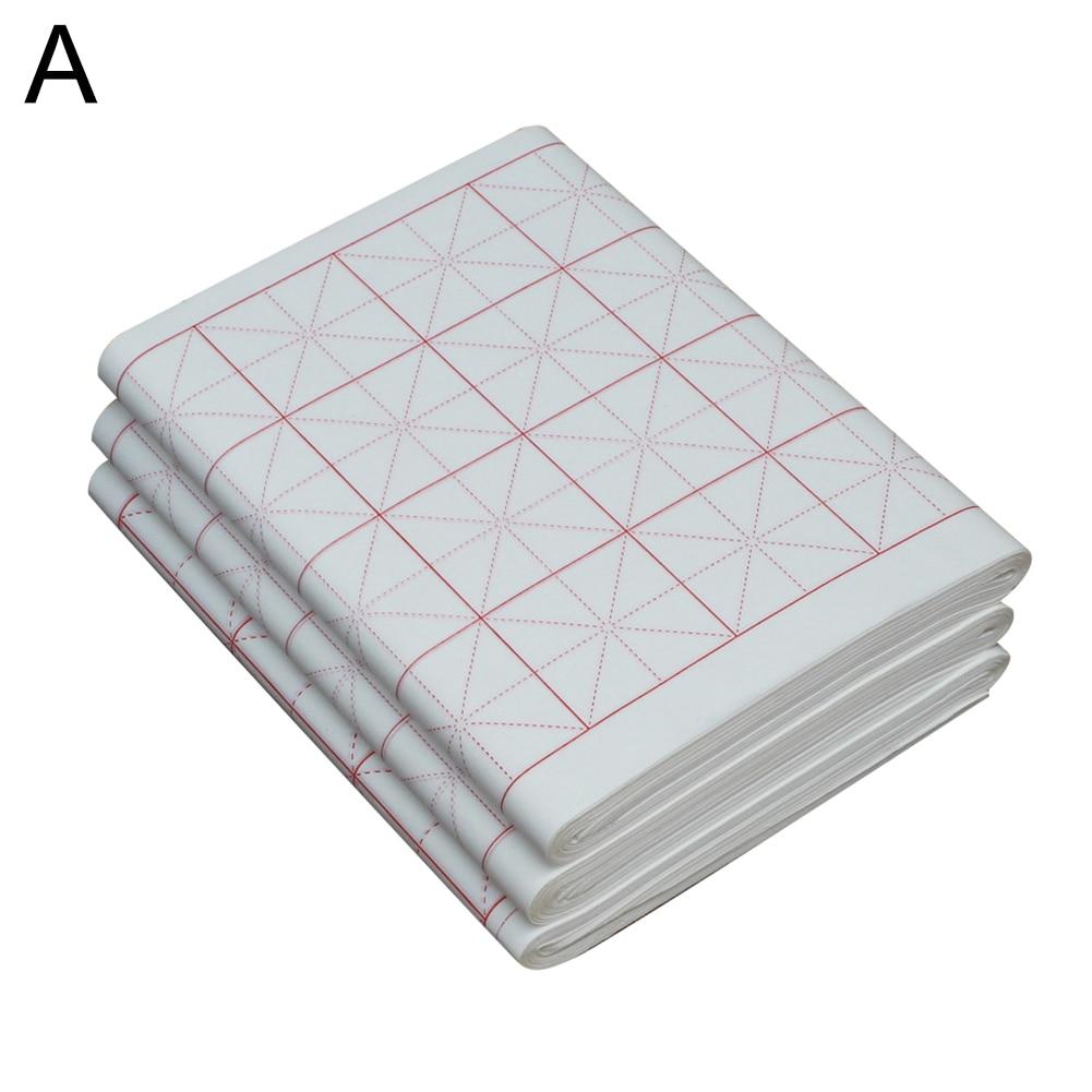 100 шт сырье/полусырье пересекающиеся каллиграфия рисовая практика суань бумага 2019HOT - Габаритные размеры: A