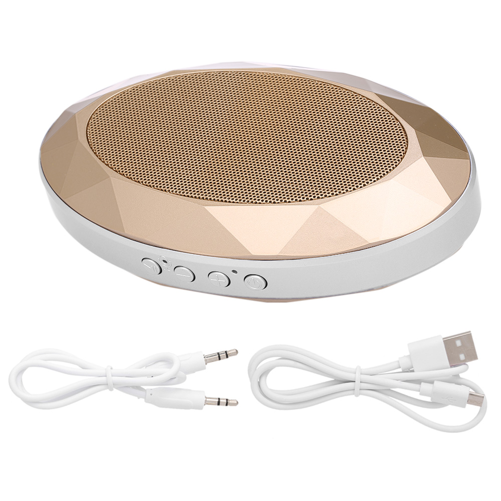 AJB-001 Portable Bluetooth V4.2+EDR Speaker Diamond-Style Subwoofer Stereo Soundbox Support TF Card AUX IN