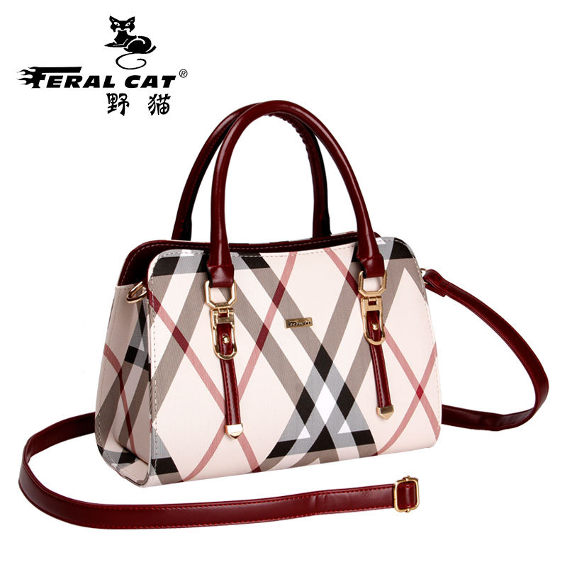 FERAL CAT PU Leather Handbags Women Famous Brands Bag 2017 Big Casual Tote England Style Shoulder Bags Ladies Large Bolsos Mujer leather bags handbags women famous brands big casual messenger bags trunk tote designer shoulder bag ladies large bolsos mujer
