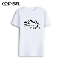 There is no planet B customize print tshirt men o-neck casual oversized tee large size solid color top 7XL short sleeves
