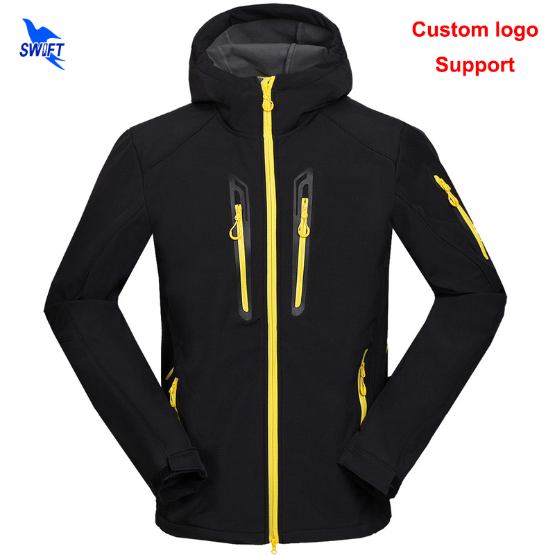 Custom Waterproof Windproof Hiking Clothing Tech Fleece Winter Thermal Hooded Softshell Jacket Men Ski Climbing Fishing Clothes стоимость