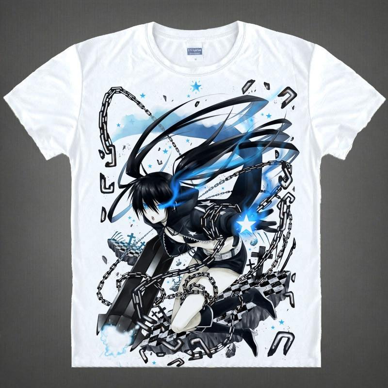 Black Rock Shooter T-shirts kawaii Japanese Anime t-shirt Manga Shirt Cute Cartoon Mato Kuroi Cosplay shirts 37166799598 tee 338 1