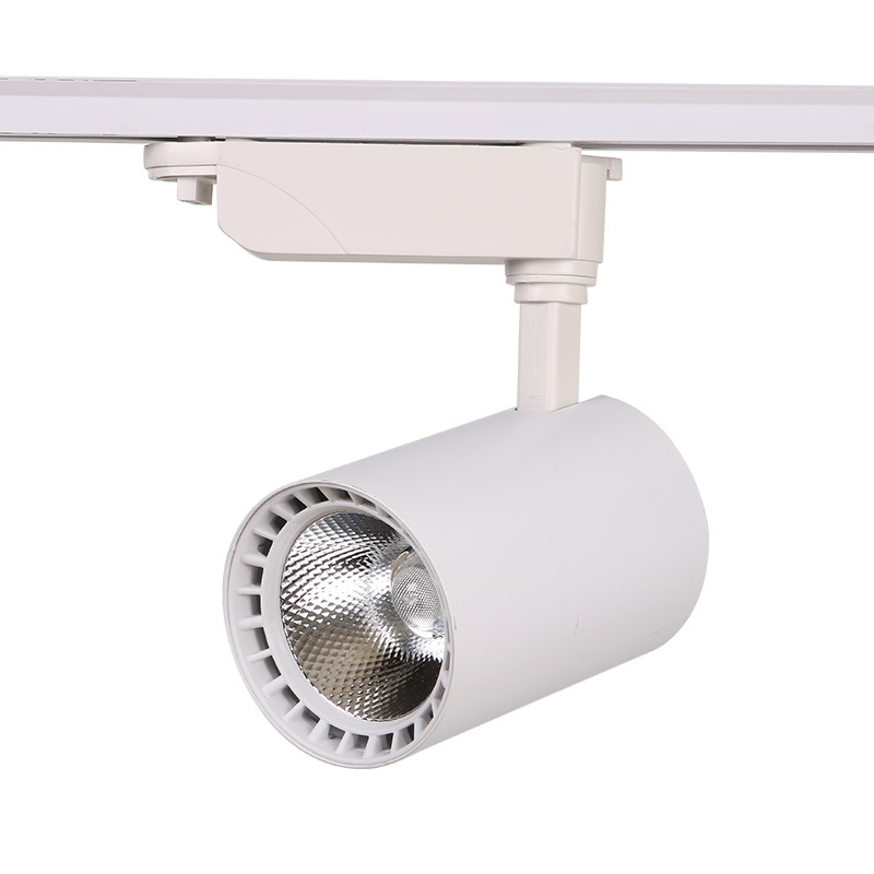 COB oświetlenie szynowe led lampa 12W 30W 20W oświetlenie drogi oprawy Spot Rail reflektory sufitowe 220V dla sklepu sklep odzieżowy